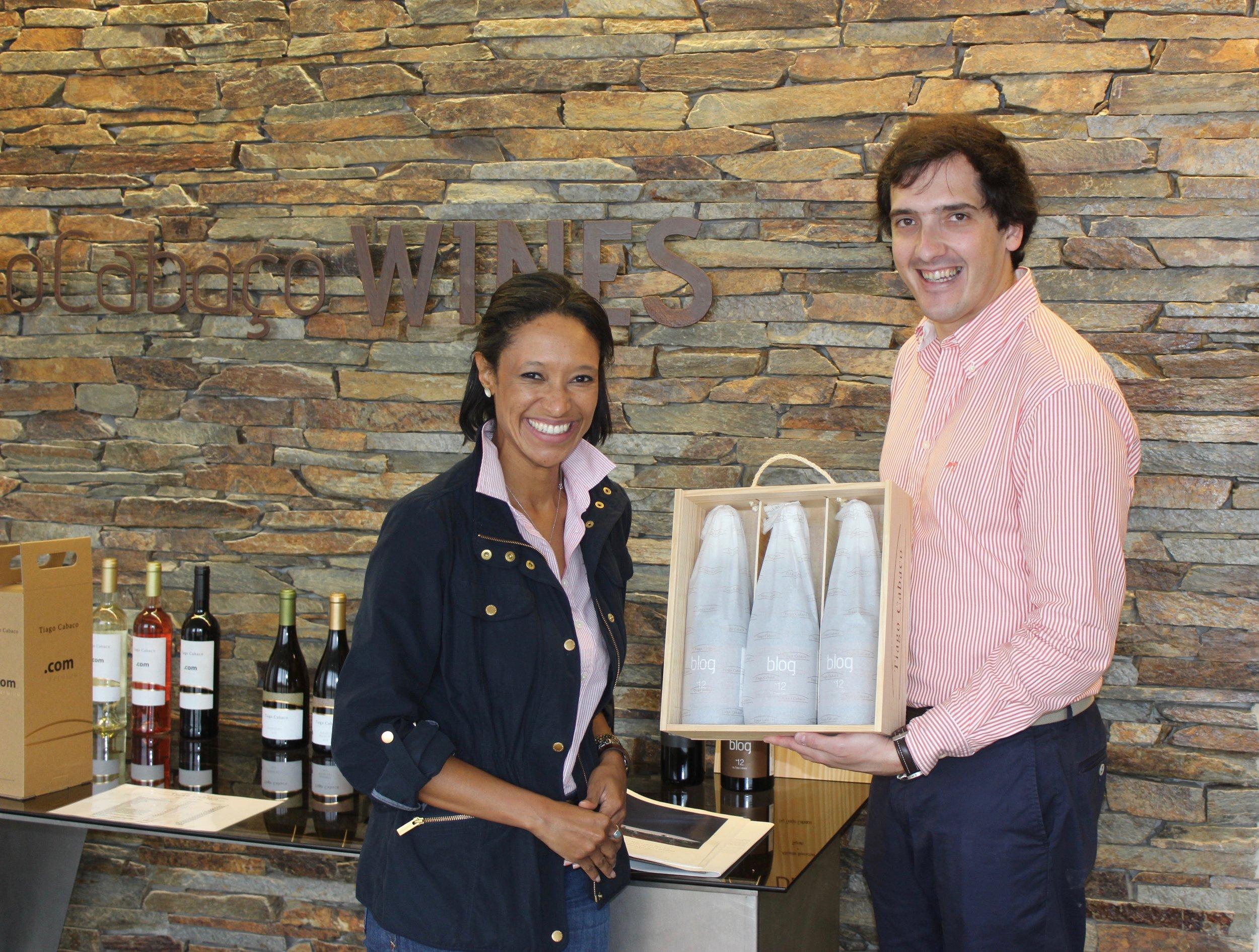director of wine tourism pedro zacarias of tiago cabaço wines