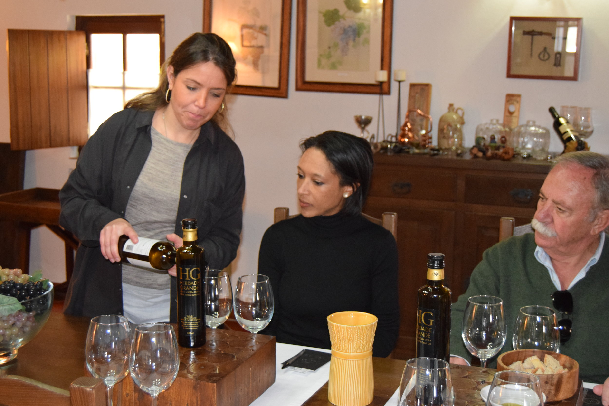 Winemakers MARIANA LAN  ÇA & FATHER, ANTONIO MANUEL LAN  ÇA OF HERDADE GRANDE