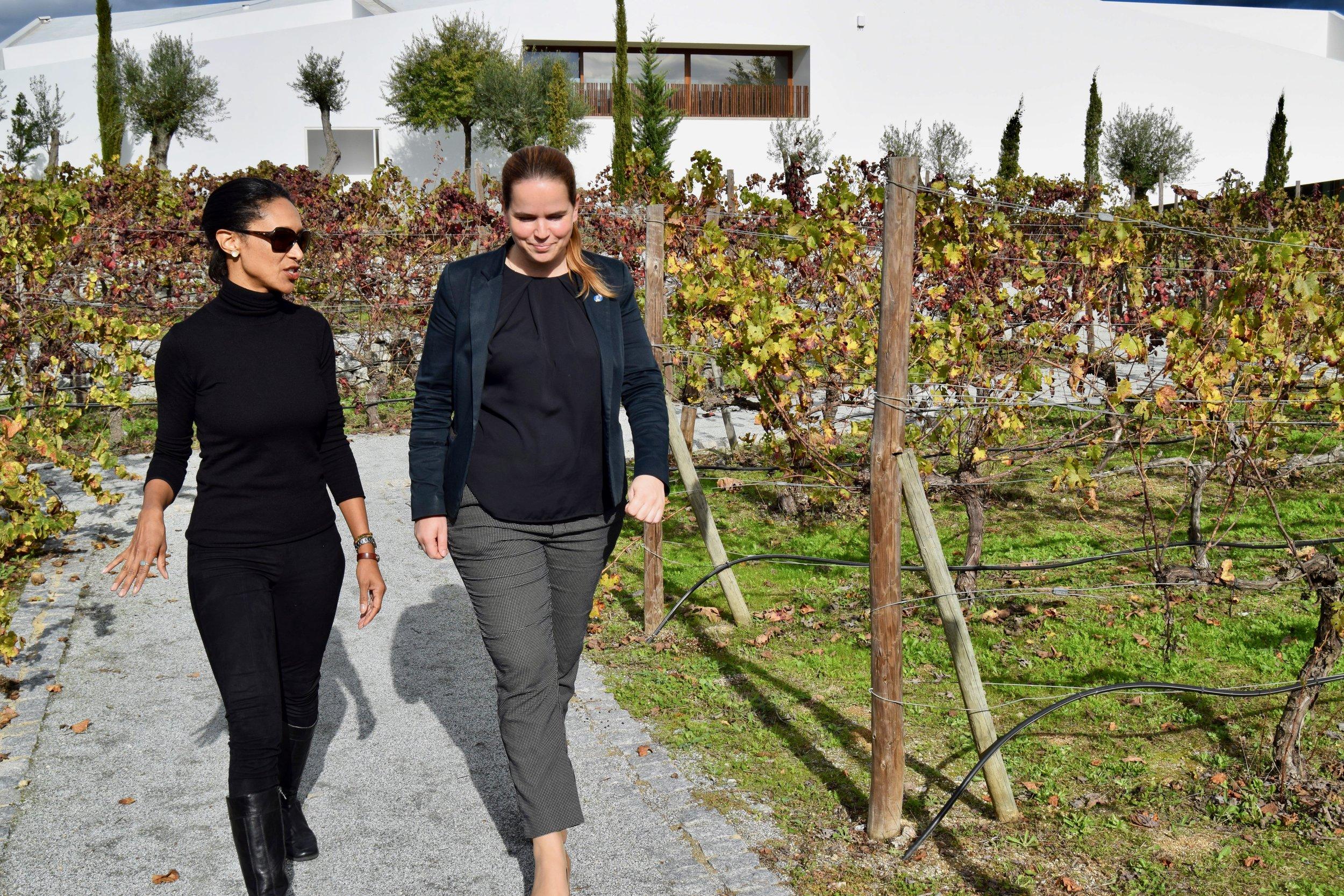 wine manager Cristina Laffan oliveira of l'and vineyards resort