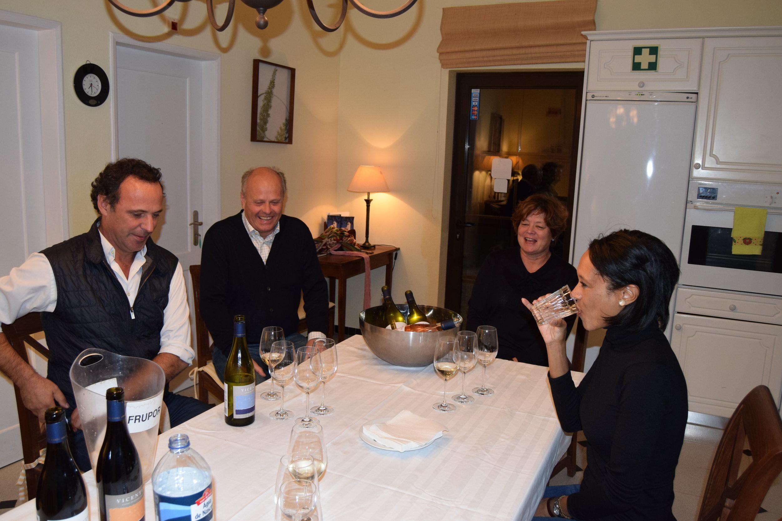 Winemaker bernardo cabral with mr. & mrs. ole martin siem of herdades da frupor