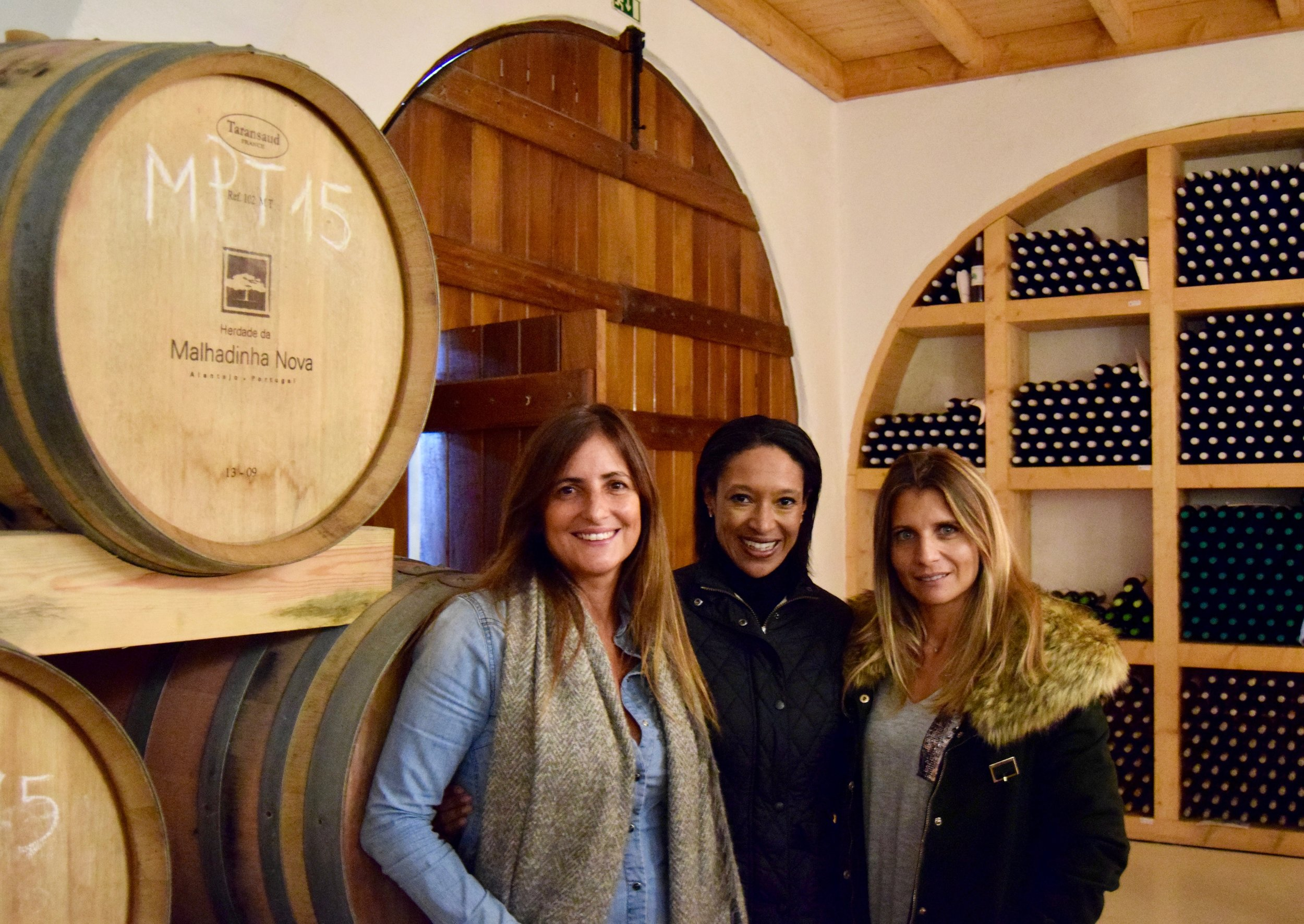 Malhadinha nova luxury country house, spa and vineyards with owner & CEO rita soares (left)