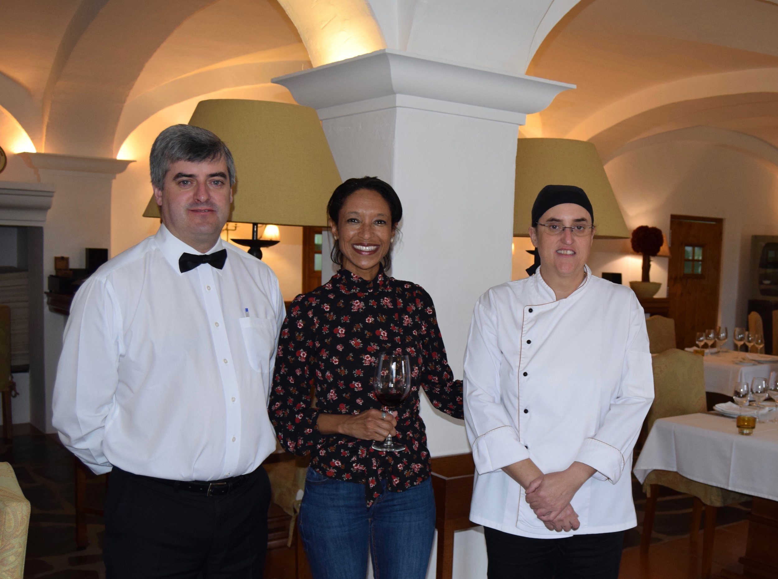 owners and master chef at herdade das servas restaurant