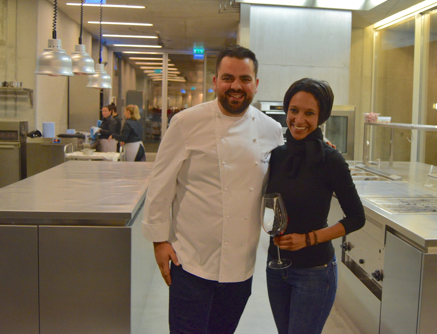 sheree M. mitchell  with chef diogo rocha of mesa de lemos in Viseu, Portugal