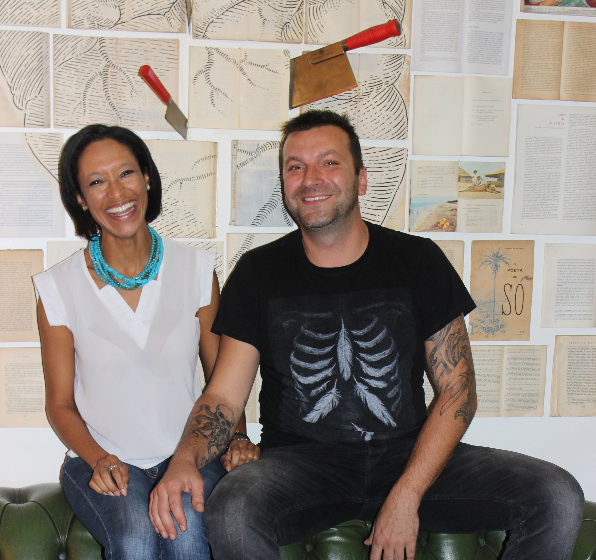 Sheree M. Mitchell with Chef Ljubomir Stanisic of 100 Maneiras Bistro, Lisbon.