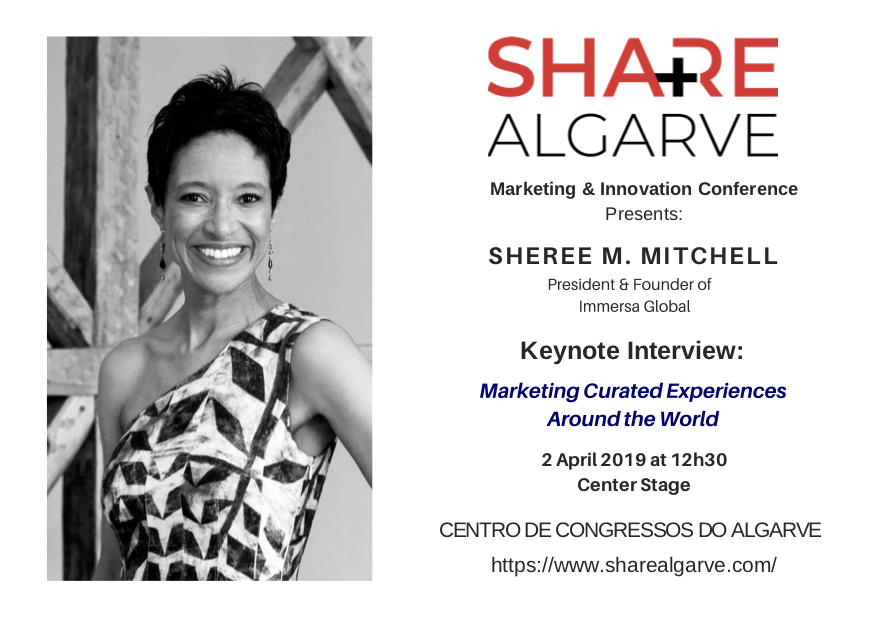 Sheree M. Mitchell, President & Founder of Immersa Global to Speak at the Share Algarve Conference in Vilamoura, Portugal