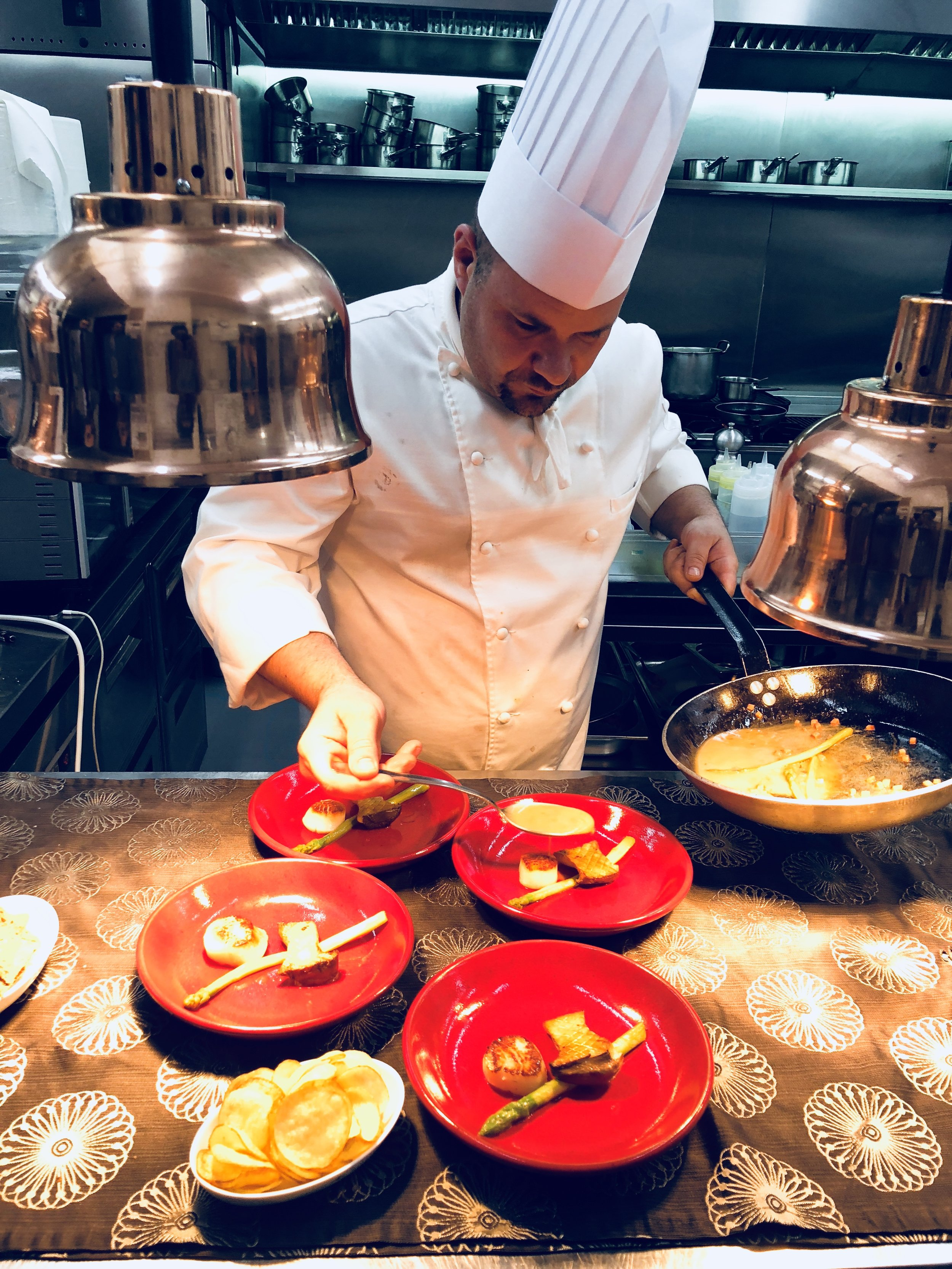 Inside the kitchen at Pabe