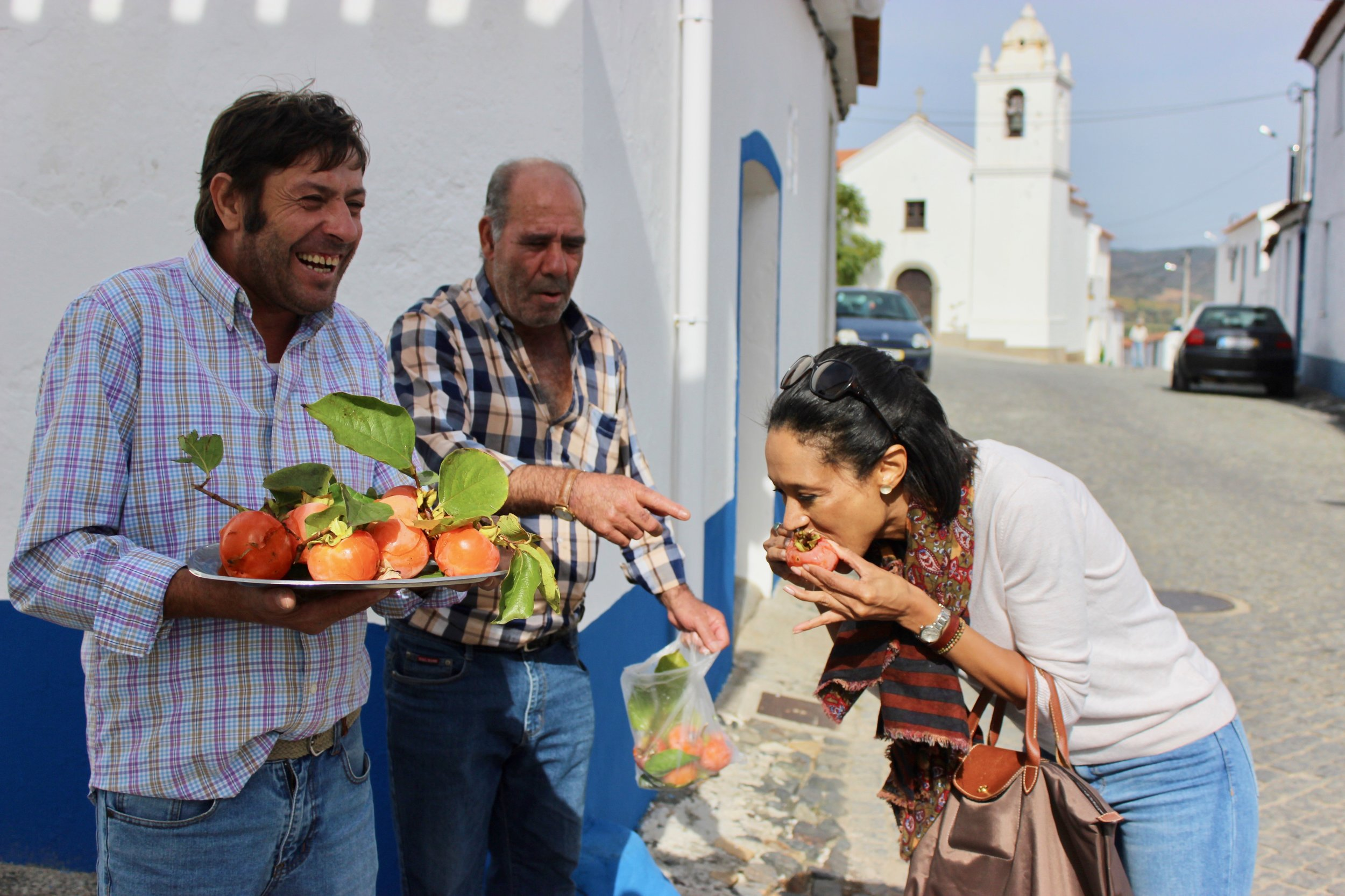 Eating Persimmons in the Alentejo