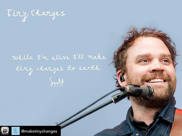 "Repost from @maketinychanges - We are excited to announce the launch of Tiny Changes, a Scottish mental health charity set up in memory of Scott Hutchison who died by suicide in May 2018 after a lifelong battle with depression and anxiety. In an effort to turn this tragedy in to something positive and to provide help and support that we feel is missing from today's society we plan to make tiny changes to young people's lives through education and inspiration.  Cases of mental illness in young people and children are reaching epidemic levels and go largely unnoticed by a lot of society. We plan to change this trend and stop this problem as early as possible in a person's life. Scott suffered from anxiety from an early age but like so many there was a lack of support, understanding and awareness of these issues and this is something we will strive to change.  We can all do this by continuing Scott's legacy and keeping alive his words of hope and togetherness. Say it to yourself. Say it to your friends. Say it to strangers. ""While I'm alive, I'll make tiny changes to earth""  You can donate via the link in our bio.  #maketinychanges #tinychanges"