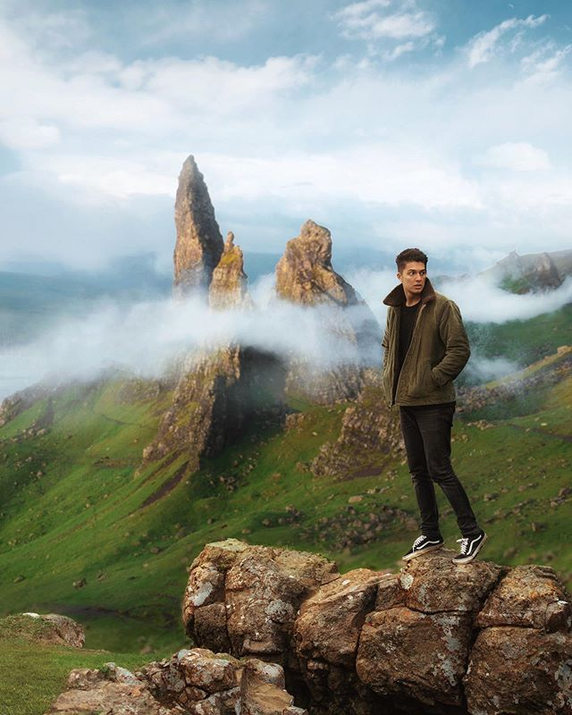 So stoked to see the iconic Old Man Storr in the Isle of Skye. Makes me think I should explore more of my home country🇬🇧 Where are you guys from?
