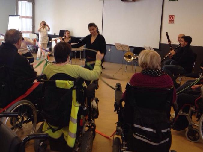 Quinteto Respira en la Residencia Aspaym de Valladolid