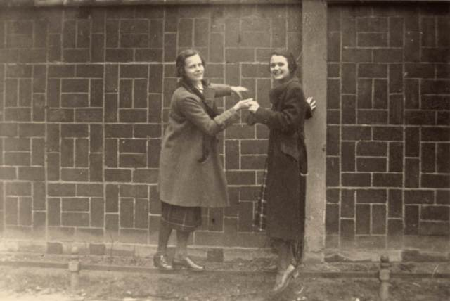 My grandmother Susanne (on the right) at school in Berlin, 1934.