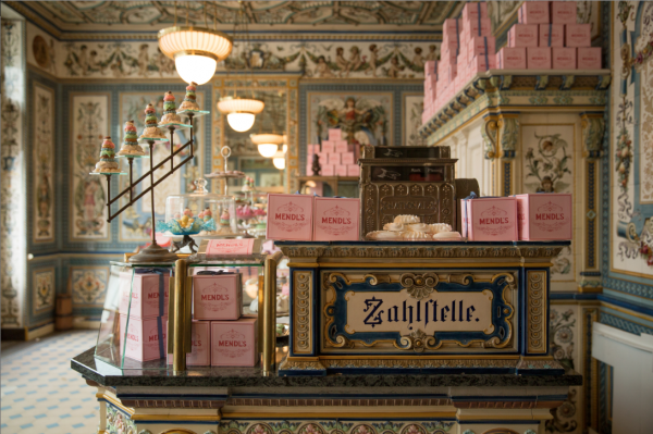 The film set for Mendl's cake emporium
