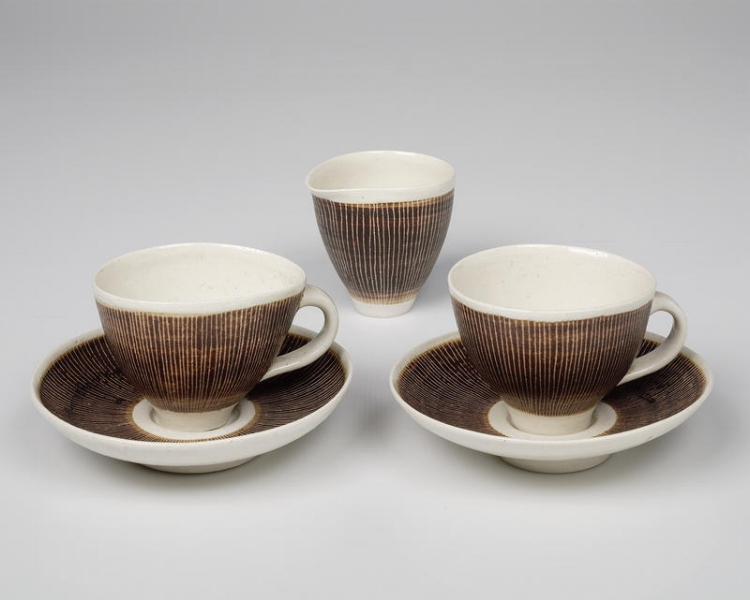 Tea cups by Lucie Rie and Hans Coper 1955