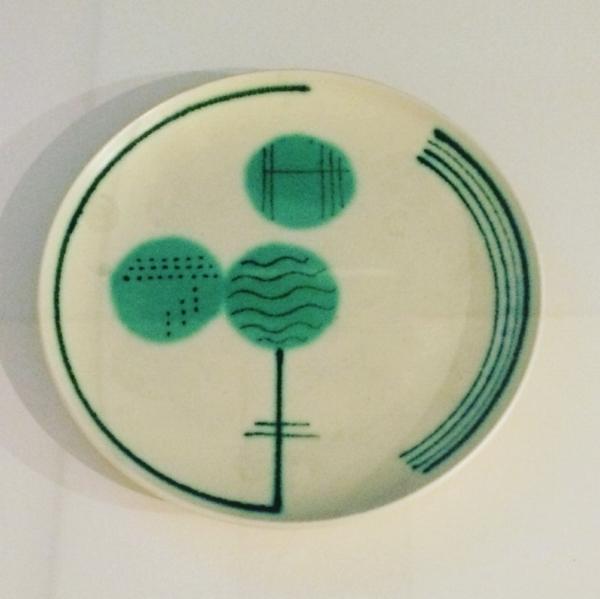 Grete Marks Earthenware plate 1930