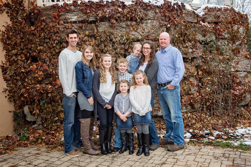 Pictured: James, Kim (our soon to be daughter-in-law) Beth, Ruby, Jack, William, Isabelle, Robyn, Chris