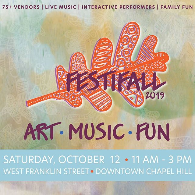 Come see me this Saturday at Festifall - Chapel Hill's annual arts festival. 🌞🌞🌞 It's a day filled with local artisans, street performers, live music and family-friendly activities. Bonus - free parking for the day! 👍 @chcommunityarts  #festifall #chapelhill #trianglenc #ncarts