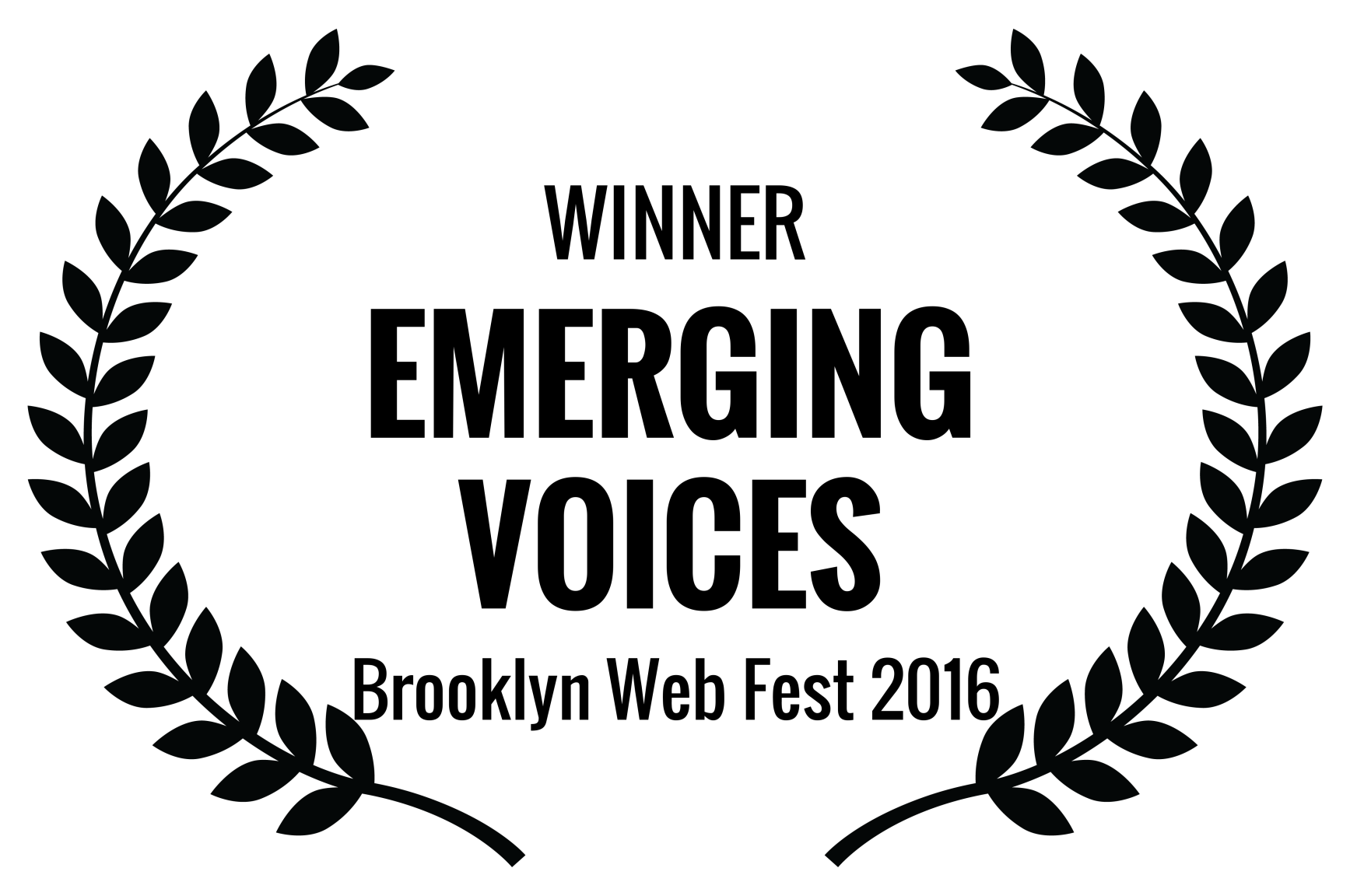 WINNER - EMERGING VOICES - Brooklyn Web Fest 2016 (1).png