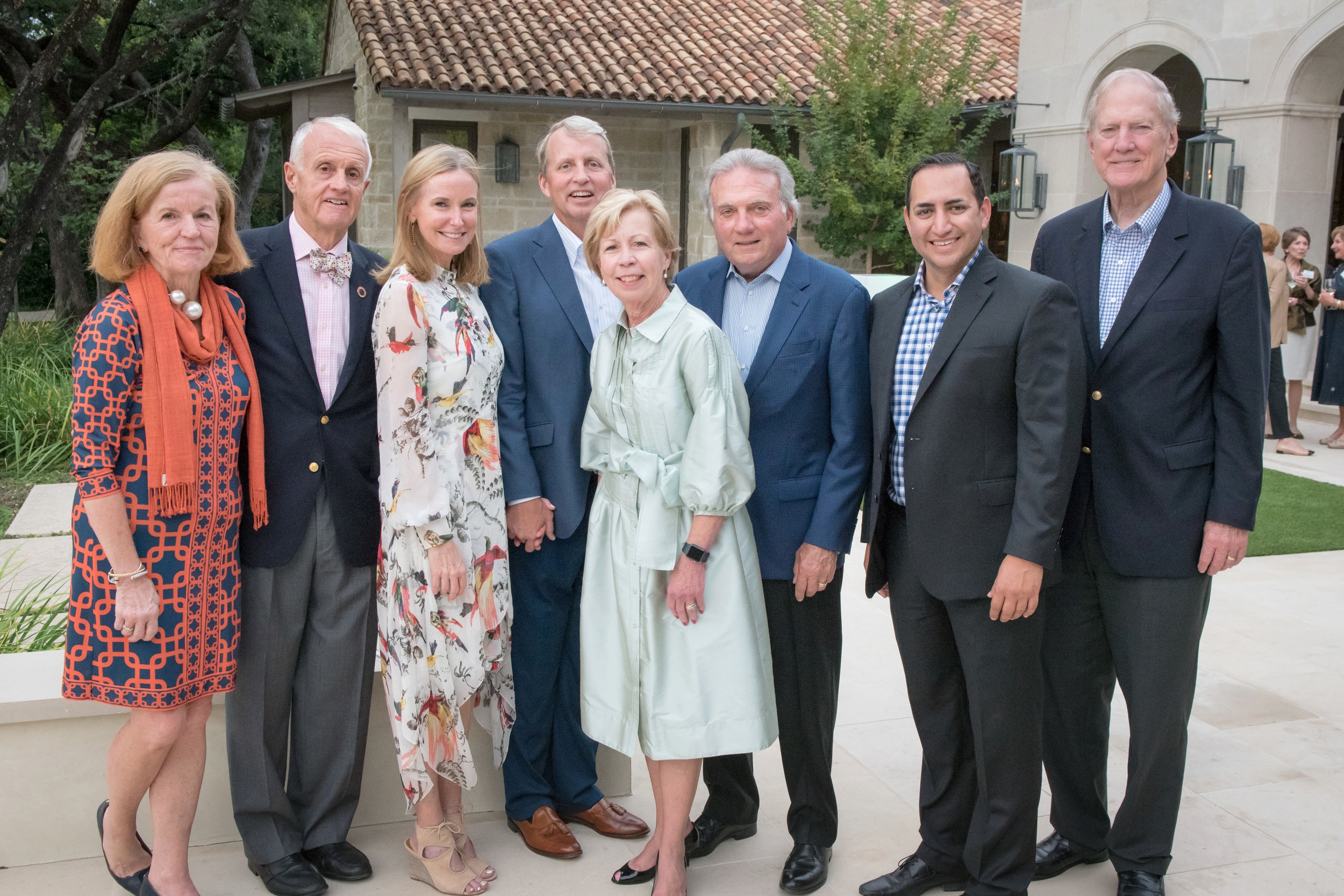 Jubilee's 20th Anniversary Gala Honorary Co-Chairs Peggy and Mark Anschutz with Chairs Lydia and Bill Addy joined current Board Chair Jeff Rice, past Board Chair Tom Harbison, CEO Ben Leal, and founding Board Chair Walt Humann at the Sponsor Soiree hosted by Monica and Joe Eastin.