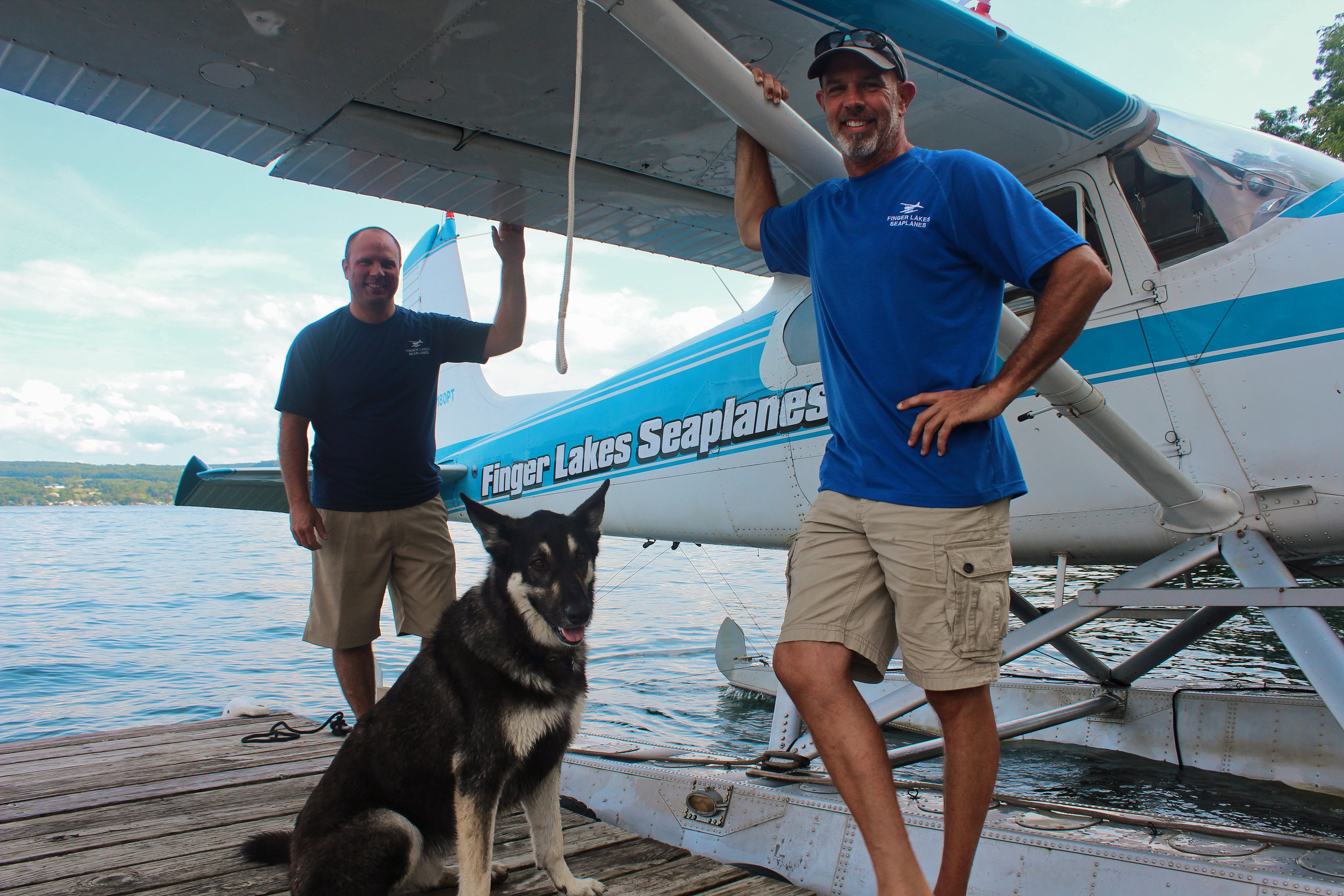 Andy Sable & Bob Knill (and Fritz!) of   Finger Lakes Seaplanes
