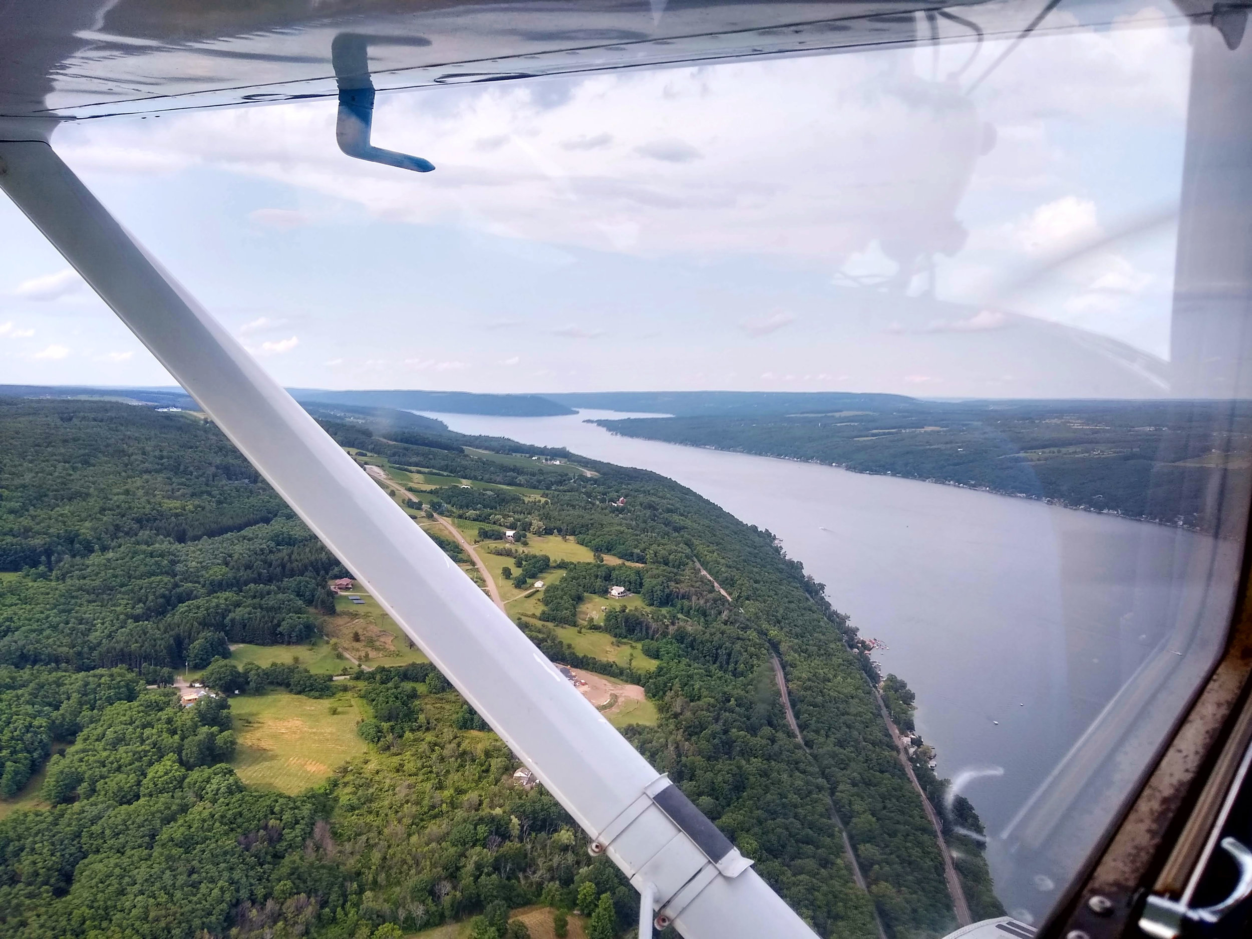Heading north after leaving Hammondsport airspace