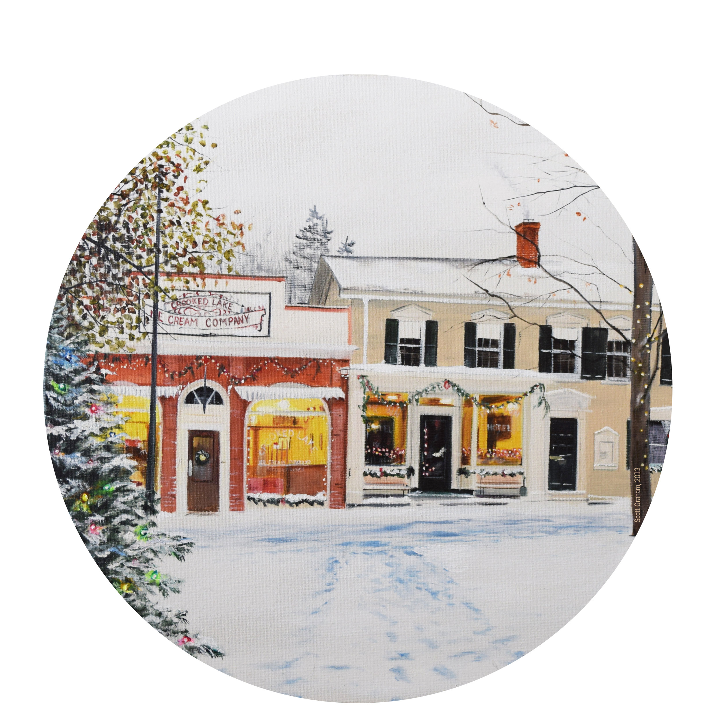 This year's cookie tin cover comes to us by way of Palettes of Keuka artist Scott Graham!