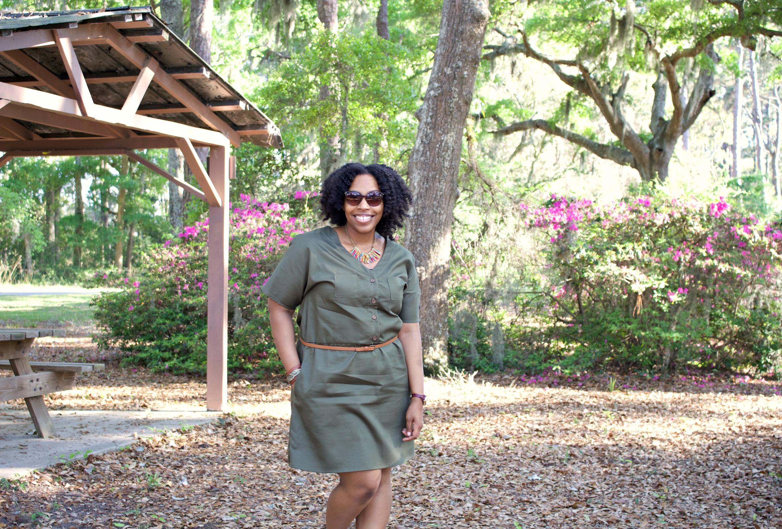 DIY Olive Green Dress: McCalls 7115 Pattern
