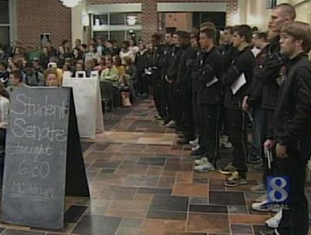 Feb. 16, 2012 MU Student Senate meeting with both the MU XC and TF teams in attendance.