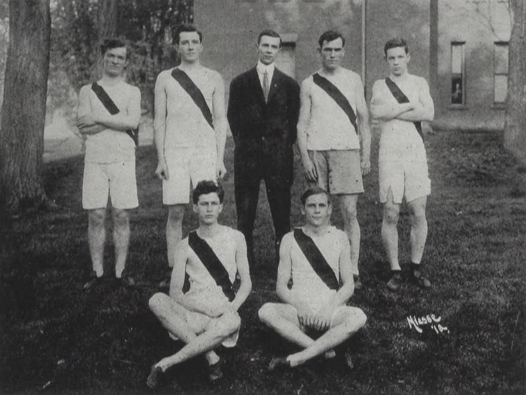Millersville State Normal School's 1912 Track & Field Team, the oldest known photo of a track team at Millersville