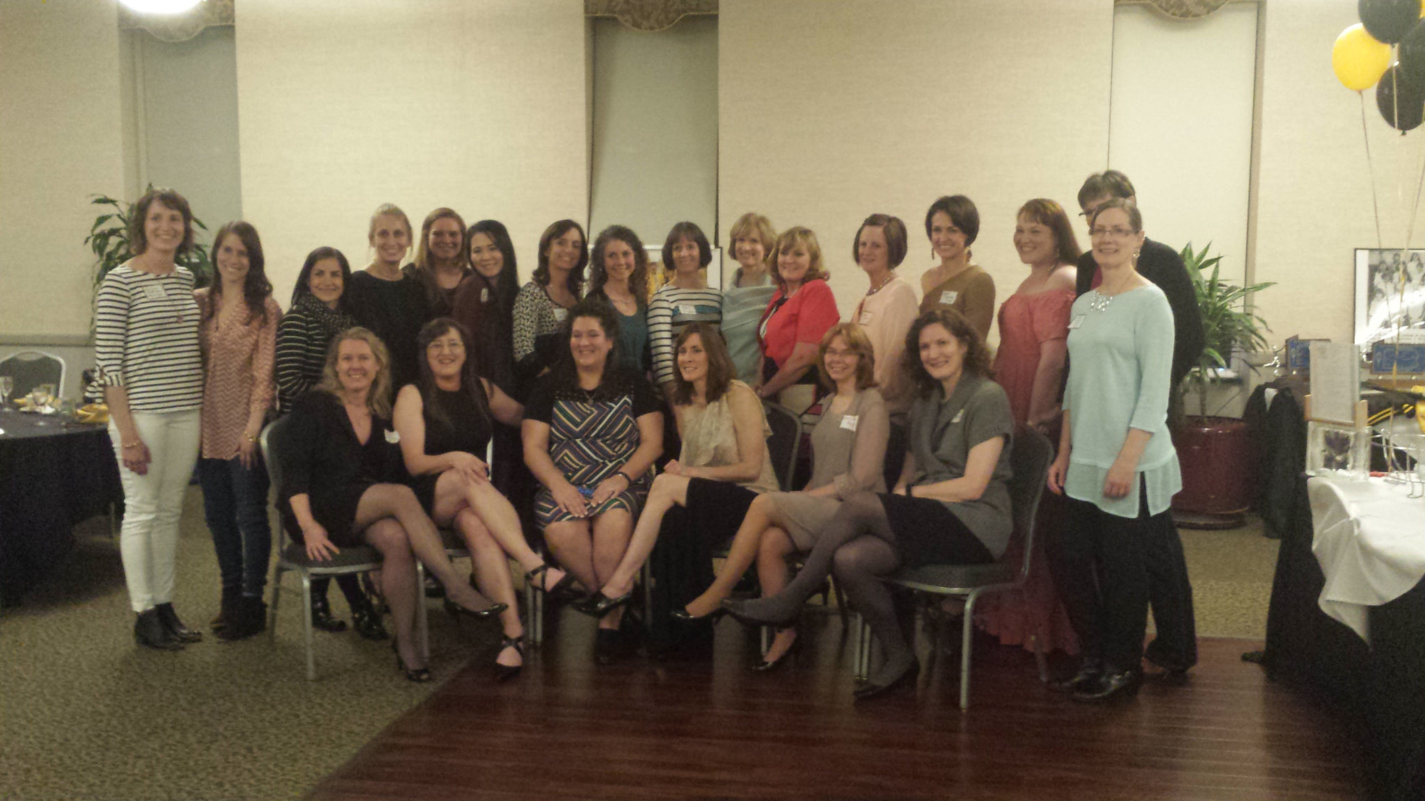 Athletes from the inaugural women's reunion, held April 1, 2017