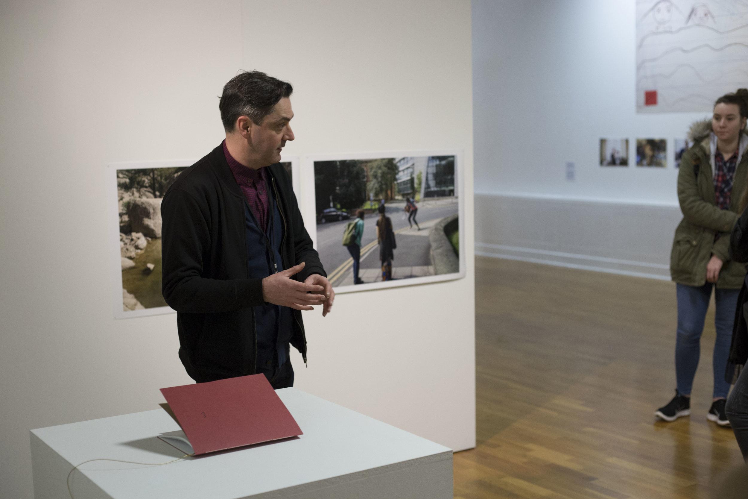 Richard M. Introducing his photo book entitled 'kerb'