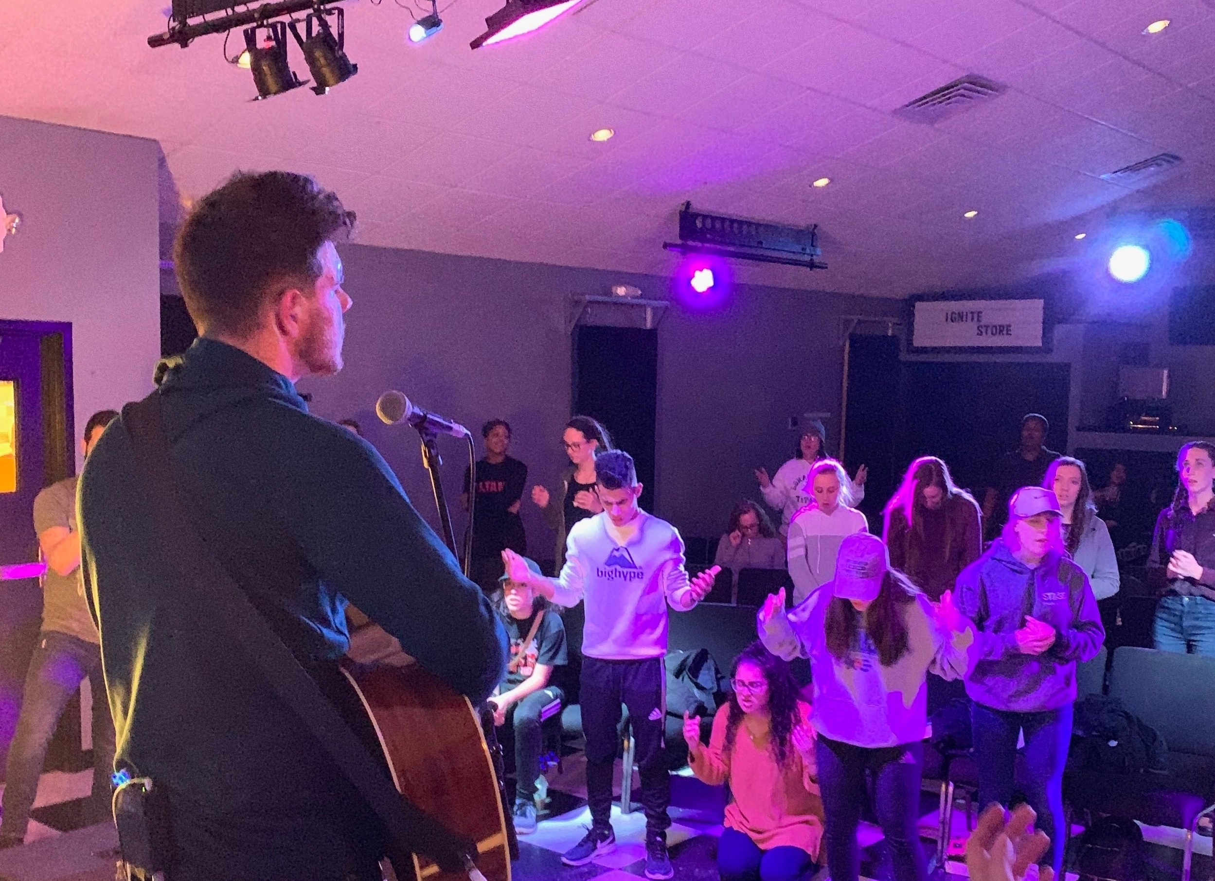 Stage Wednesday Nights  Every week we gather at 7pm! This is more than just a church service, but a Holy Spirit, passionate outcry of worship and word. This is a time where the Gospel is shared and the life changing power of Jesus is released.