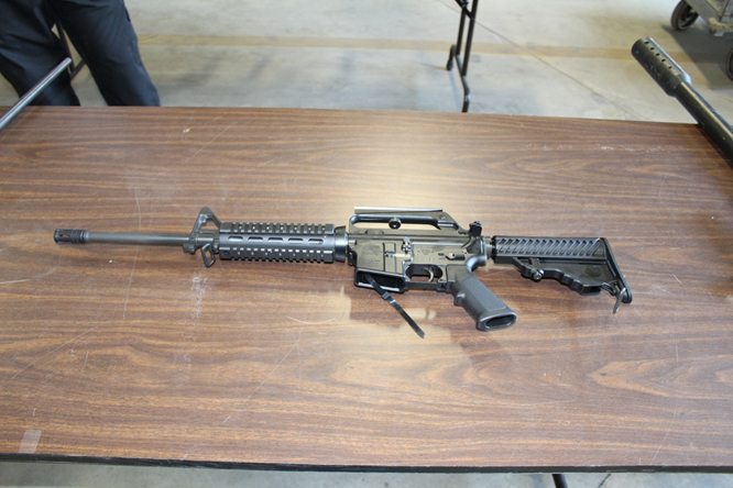 Fully automatic rifle before shearing