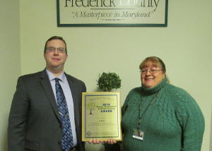 Pictured left to right are David Frederick (Marketing Director, e-End), and Natalie Weddle (Data Security Advisor, e-End)
