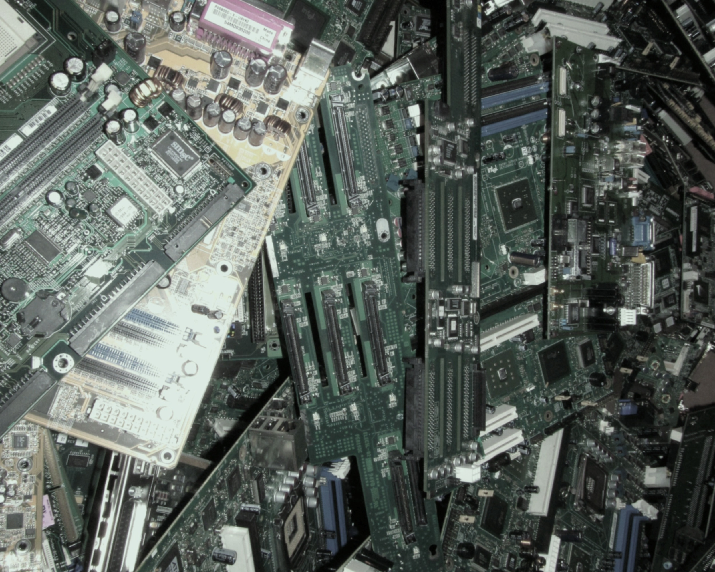 A Collection of used Circuit Boards.