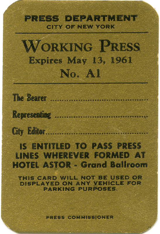 1961 Annual Ball Ticket