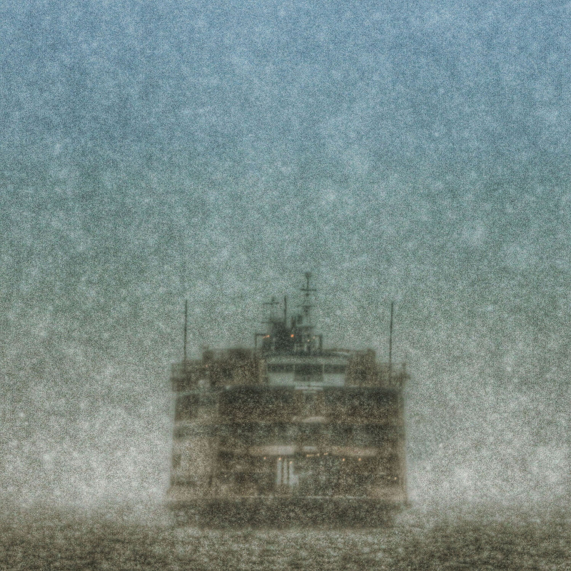 The Staten Island Ferry is seen approaching the St. George Terminal through a heavy snowfall Tuesday, Jan. 27, 2015, in the Staten Island borough of New York.