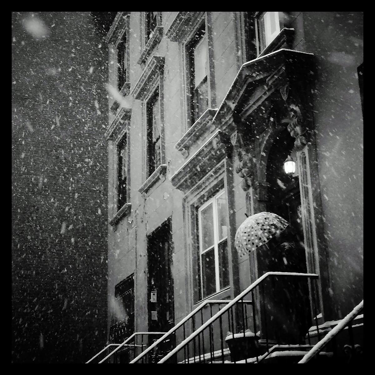 Snow in Brooklyn, NY on January 9, 2015.