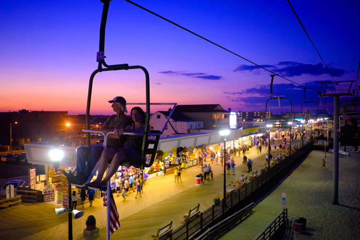 Seaside Heights Comes Back To Life at Night -