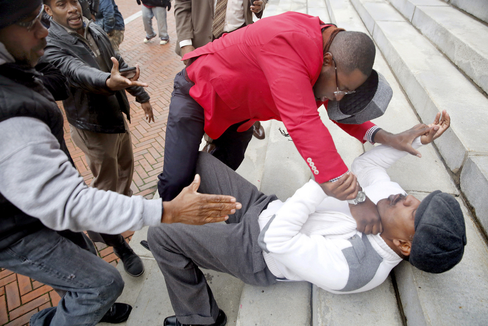 Violence Erupts At Anti-Violence Rally -