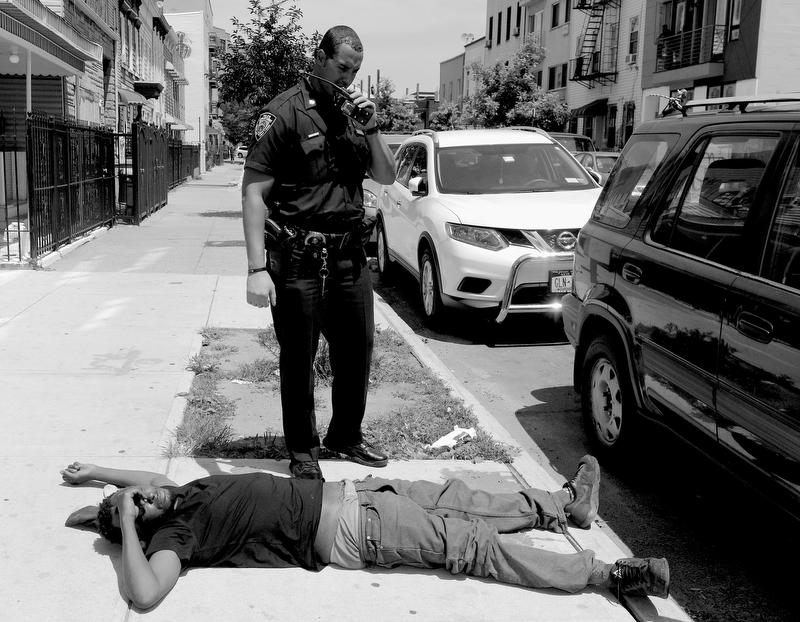 Police and EMS rushed 15 people to the hospital after an alleged overdose by numerous people on K-2 and other drugs on Broadway in Bushwick, Brooklyn this morning July 12, 2016.