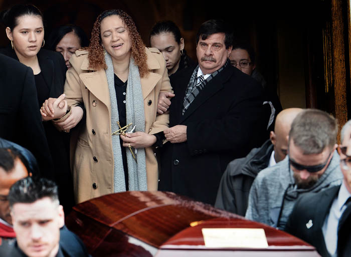 Mother, cries at funeral for the heroic 11-year-old boy who lost his life after plucking his friend from a frozen Queens pond. Anthony Perez never managed to make it out of the frigid waters at Strack Pond in Forest Park after rescuing his 12-year-old pal last Tuesday afternoon.