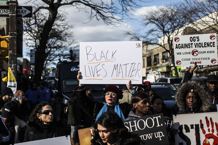 Protesters came out to speak against police brutality and pay their respects near the scene where Saheed Vassell was shot unarmed by the NYPD on the corner of Utica Avenue and Montgomery Street in Brooklyn on Thursday, April 5, 2018. Vassell was a mentally disturbed individual beloved by the community and was killed when an officer opened fire when he looked as if he had a firearm but turned out to be a piece of metal.