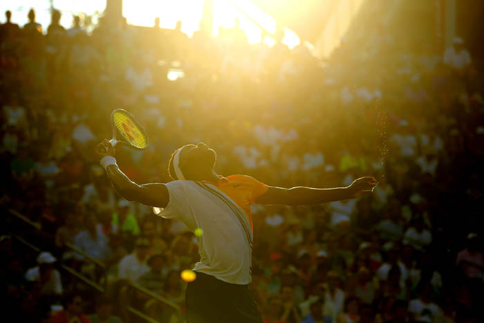 Top tennis players from around the world compete in the 2018 US Open Championships from Monday, August 27 through Sunday, September 9 at the USTA Billie Jean King National Tennis Center in Queens. Frances Tiafoe serves on day 4.