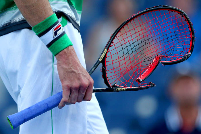 Top tennis players from around the world compete in the 2018 US Open Championships from Monday, August 27 through Sunday, September 9 at the USTA Billie Jean King National Tennis Center in Queens. John Isner damages his racquet on day 3.