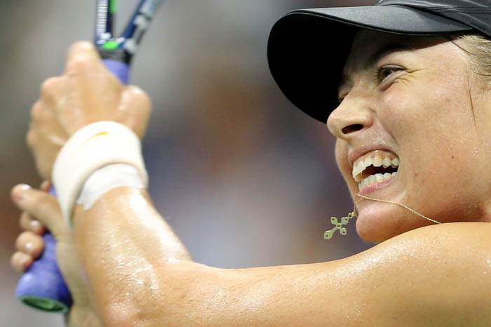 Top tennis players from around the world compete in the 2018 US Open Championships from Monday, August 27 through Sunday, September 9 at the USTA Billie Jean King National Tennis Center in Queens. Maria Sharapova plays a ball on day 8.