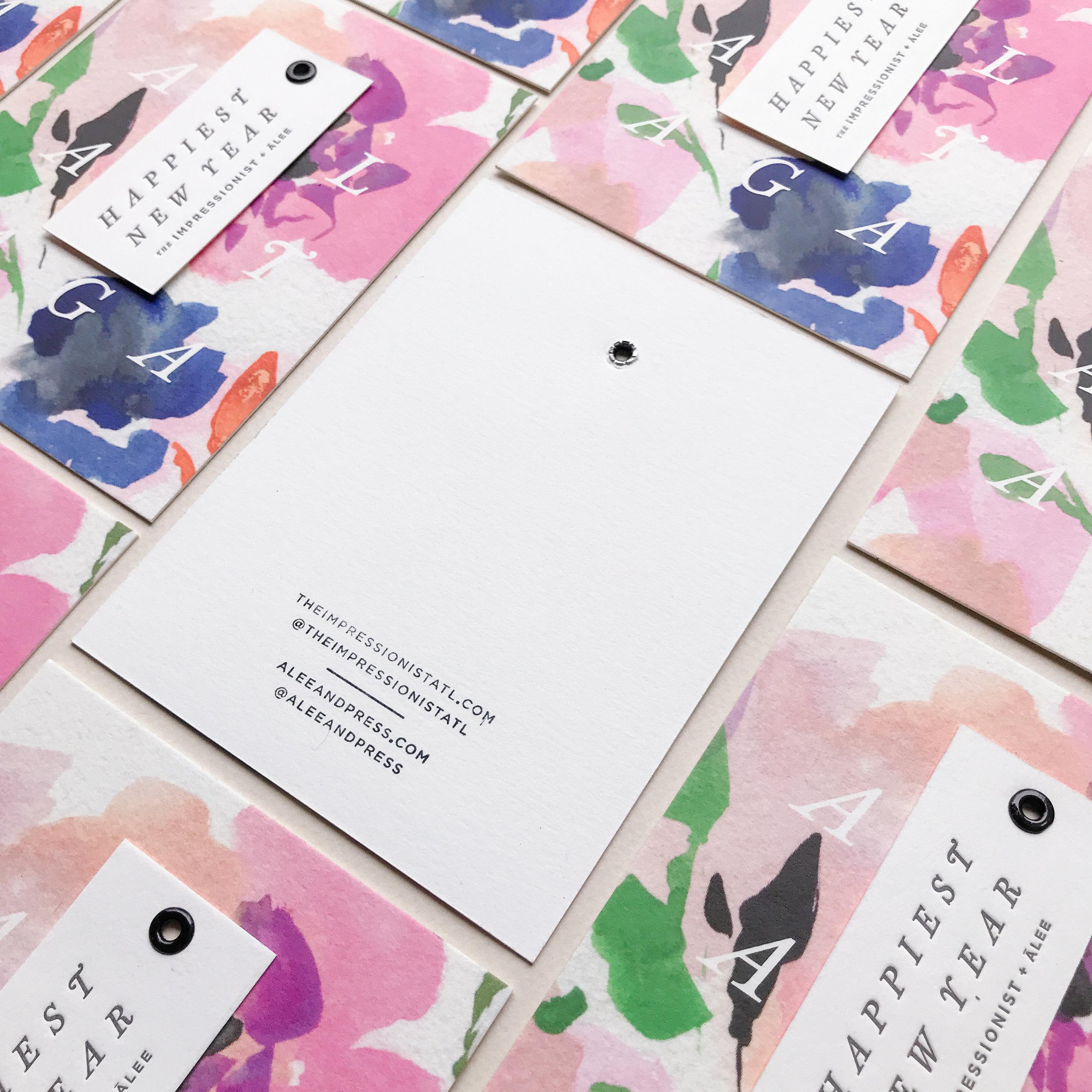 Custom Letterpress Printed Card