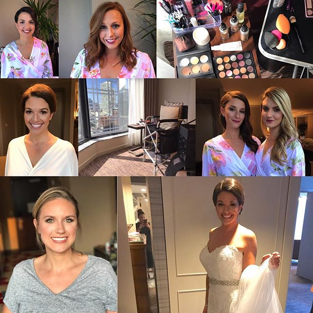 5 lovely bridesmaids, 1 sweet mother of the bride, 1 blushing bride 👰🏻, 1 July bride-to-be makeup trial, a few sips of champagne , and 31 weeks pregnant 🤰🏻...I'd say this glam weekend was a success 👏🏻💓👏🏻 . . . #minimakesmepretty #chicagomakeupartist #chicagobride #chicagowedding #makeupartistchicago #makeupartist #muachicago #mua #septemberbride #bridetobe #bridetobe2018 #bridalmakeup #bridalpartymakeup #makeuptrial #solosalon #linaresinlove