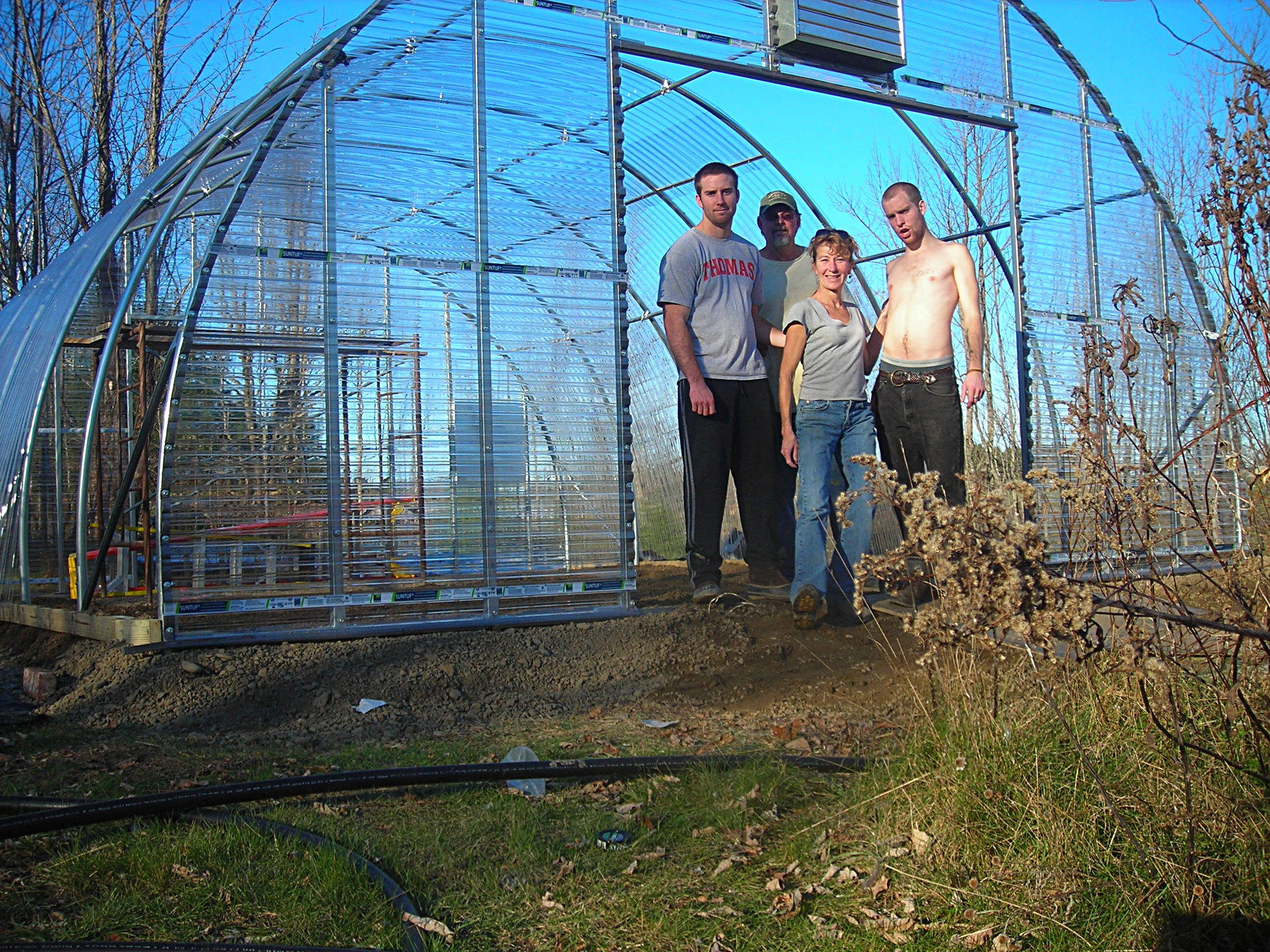 The crew! - The Fall of 2010 we built a new green house