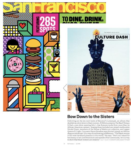 MODERN LUXURY. San Francisco Magazine.  Bow Down to the Sisters  . San Francisco: n.p., 2017. Print.