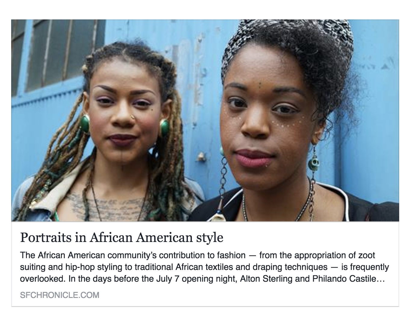 Portraits in African American Style